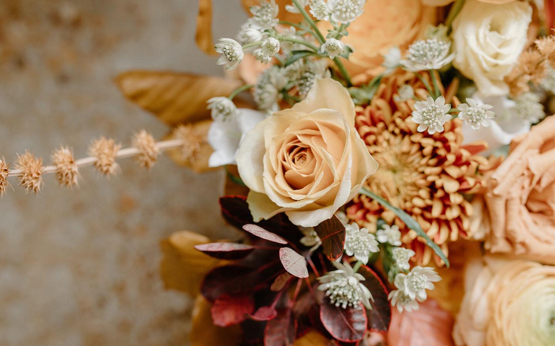 autumn coloured flower bouquet