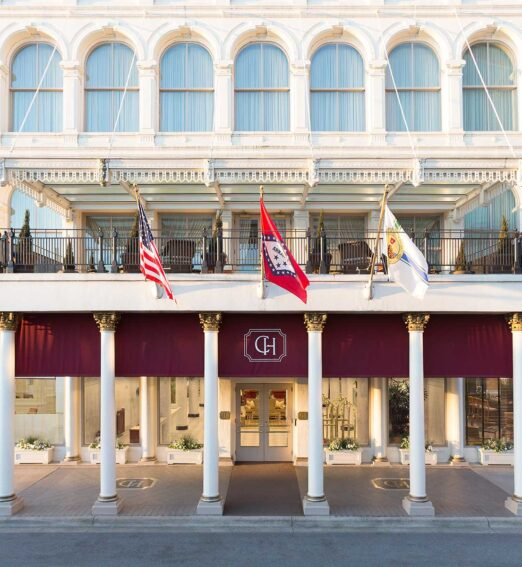 capital hotel grand entrance exterior during daytime